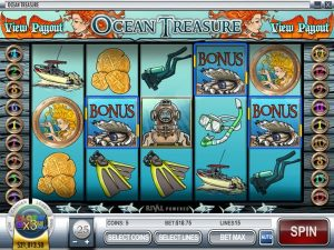 play ocean treasure slot game for free online in demo mode