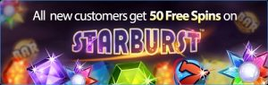 50 free spins bonus on starburst slot