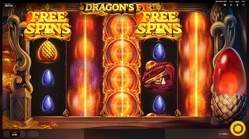 dragons fire slot free spins bonus
