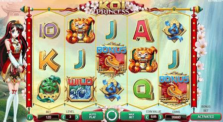 koi princess slot machine gameplay