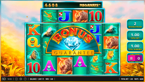 raging rhino megaways bonus guarantee