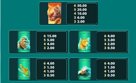 raging rhino megaways top paying symbols