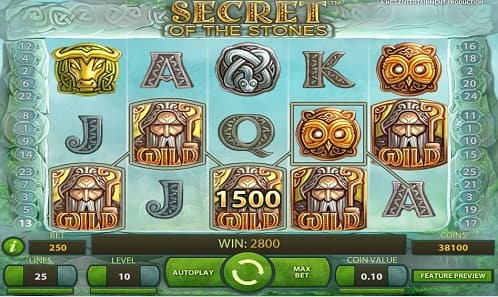 secret of the stones slot game play