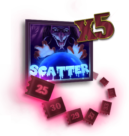 the creepy carnival x5 scatter symbol