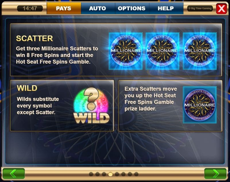 who wants to be a millionaire megaways wilds and scatters