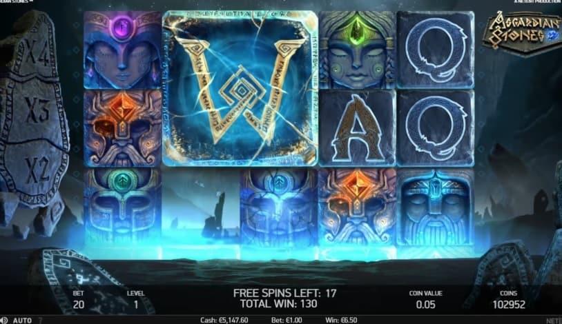asgardian stones slot free spins