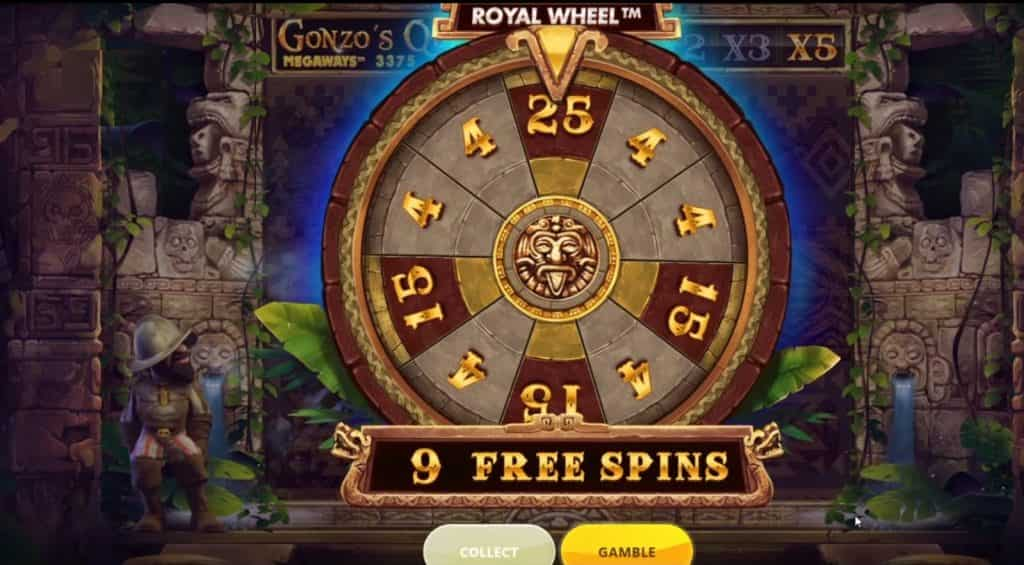 gonzo'squest megaways free spins bonus