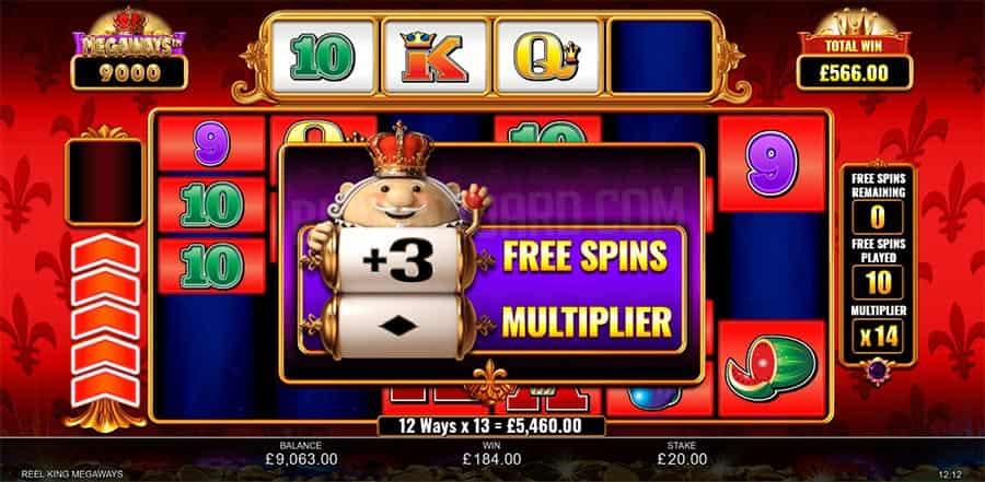 reel king megaways slot free spins