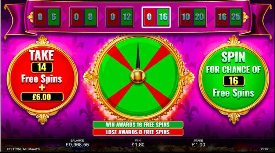 reel king megawasy gamble
