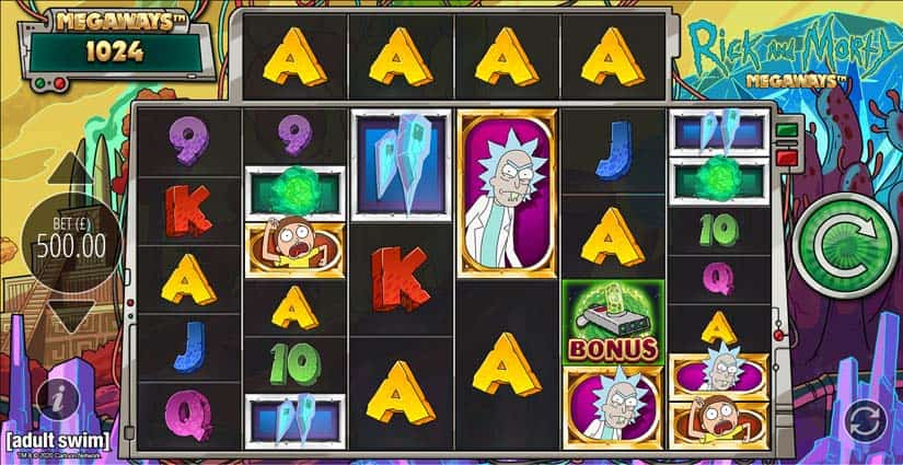 rick and morty megaways slot machine free play