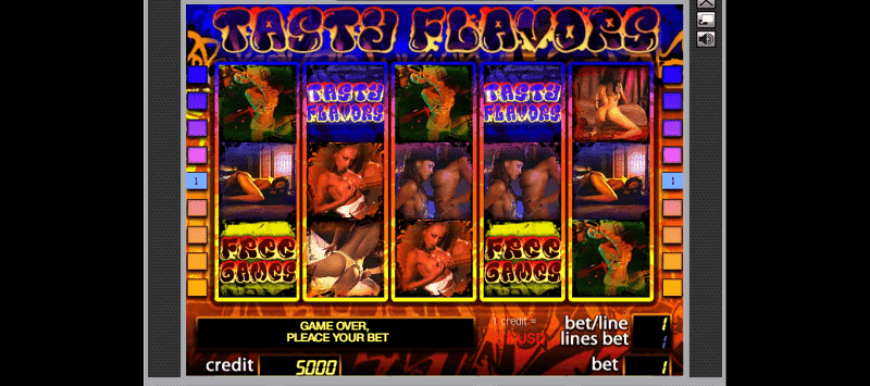 tasty flavours adult slot