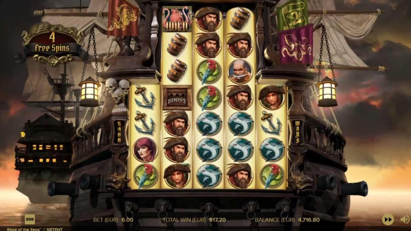 rage of the seas free spins